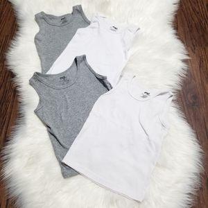 2/10$ 🎆 Giant Tiger Boys Grey White Undershirts 6